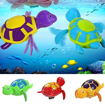 Clockwork Floating Kid Pool Playing Toy Baby Wind-up Swimming Turtle Bath Animal
