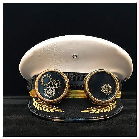 YRW ONDER Sombrero Oficial alemán Gorra de Visera Gorra Steampunk ...