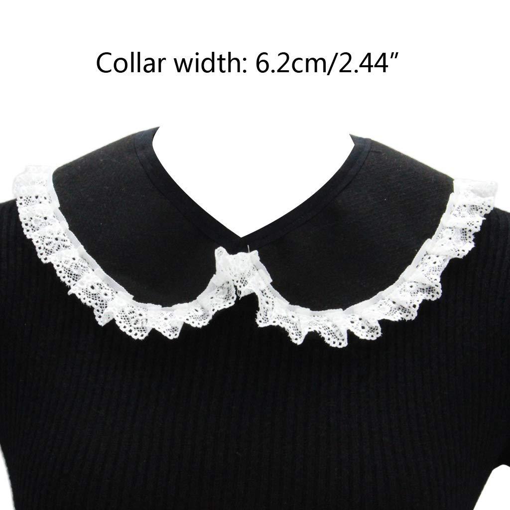 xian Mujeres Niñas Crochet Floral Solapa de encaje Falso Collar ...