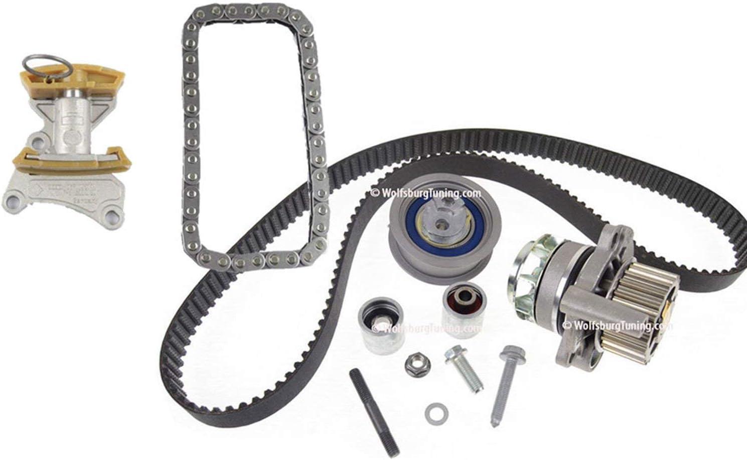 Audi A3 A4 TT Timing belt set Water pump Chain Tensioner 2.0 T 2.0T FSI 06-09