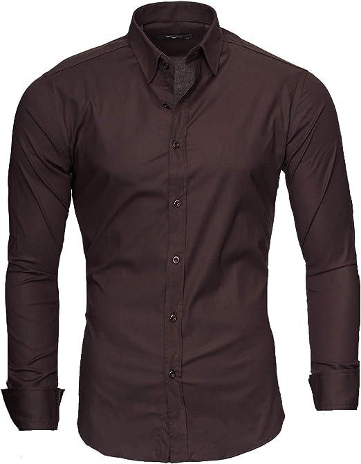 Kayhan Hombre Camisa Manga Larga Slim Fit S-6XL - Uni: Amazon.es: Ropa y accesorios