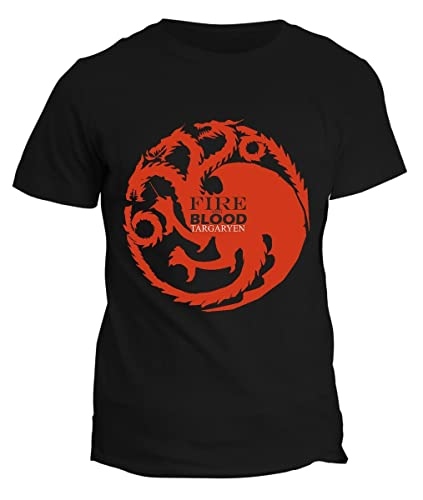 Tshirt Targaryen GoT -games of thrones- Blood and Fire daenerys targaryen Snow t-shirt uomo donna bi...