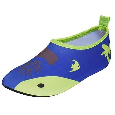 schön Design überlegene Leistung offiziell JACKSHIBO Unisex-Kinder Wasserschuhe Jungen Strandschuhe Aqua Schuhe  Mädchen Schwimmschuhe Surfschuhe Badeschuhe, Kinder S(EU 26-27)=150-160MM,  Farbe: ...