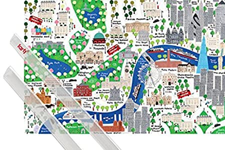 London - Map of the City, Jamie MALONE Poster (91 x 61 cm) Poster + on