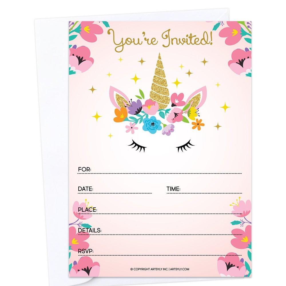 photograph about Free Printable Unicorn Invitations identify : Established of 25 Fill-in just Blank Unicorn Birthday Celebration