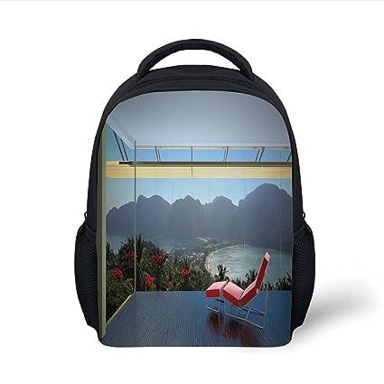 87251b744b51 Amazon.com: iPrint Kids School Backpack Landscape,Tropical Island ...