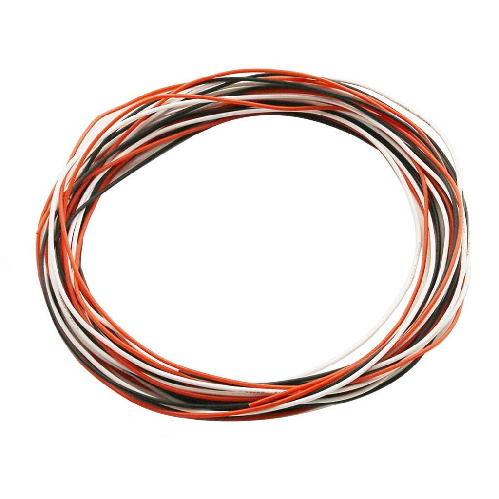 BNTECHGO 26 Gauge Silicone Wire Ultra Flexible 20 ft high Temp 200 deg C 600V 26 AWG Silicone Wire 30 Strands of Tinned Copper Wire Stranded Wire Model Cable Black and Red Each Color 10 ft