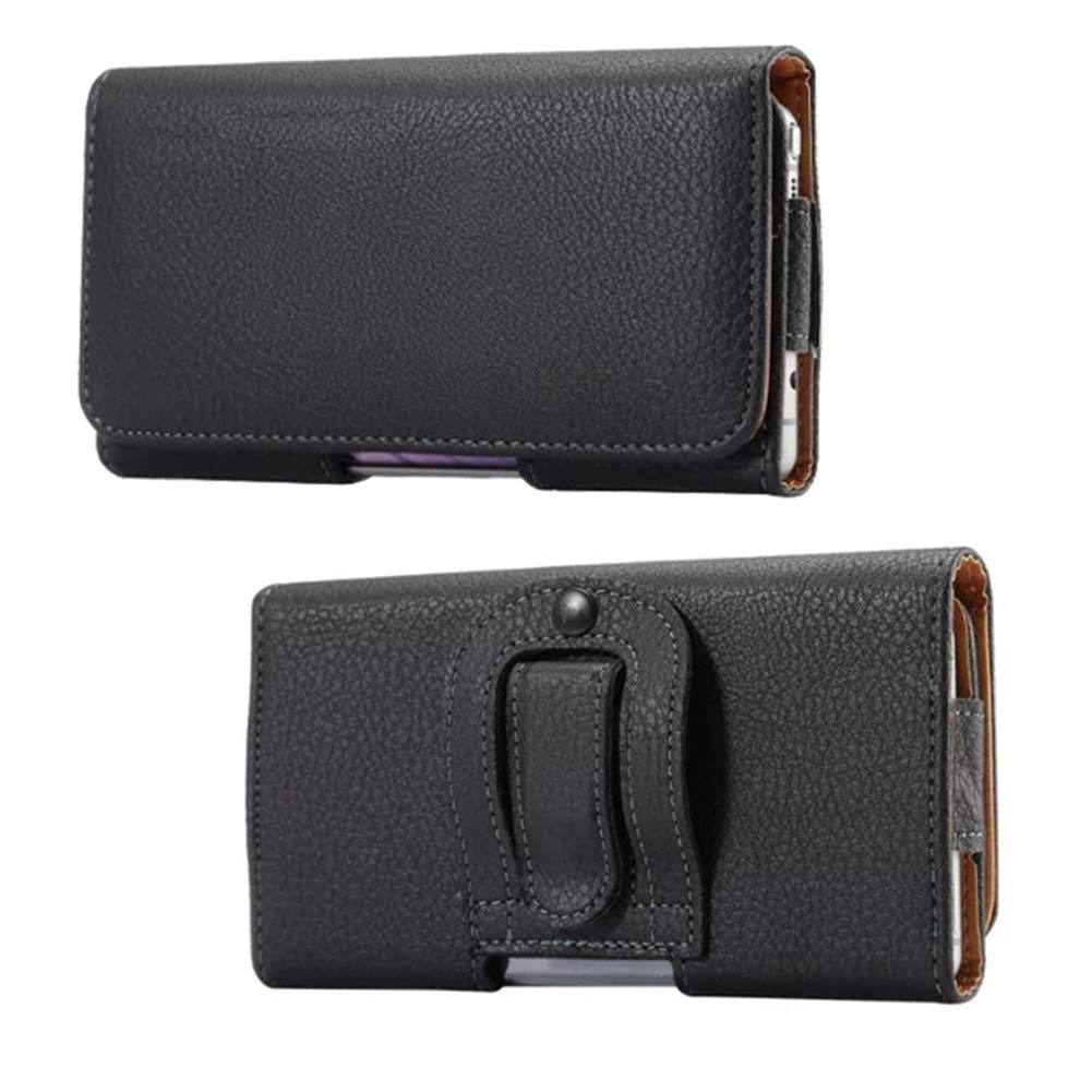 Z3 OnePlus 6T G6 Play A50 Z3 Play Horizontal Faux Leather Cellphone Holster Case Pouch Holder with Belt Clip Loops for Samsung Galaxy A10 A20 E5 G6 E5 Play Z4 Motorola Moto G7