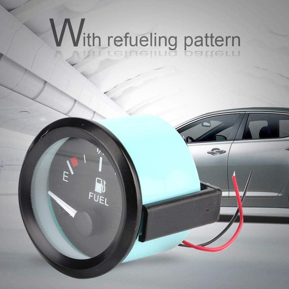 jauge de niveau de carburant universelle pour voiture de 52 mm LED Indicateur de distance E-1//2-F avec capteur de carburant Jauge de niveau de carburant