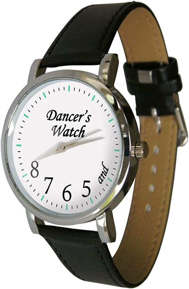 Dancers Watch Showing and 5 6 7 8 Makes a Great Gift for Any Dancer Genuine Leather Strap