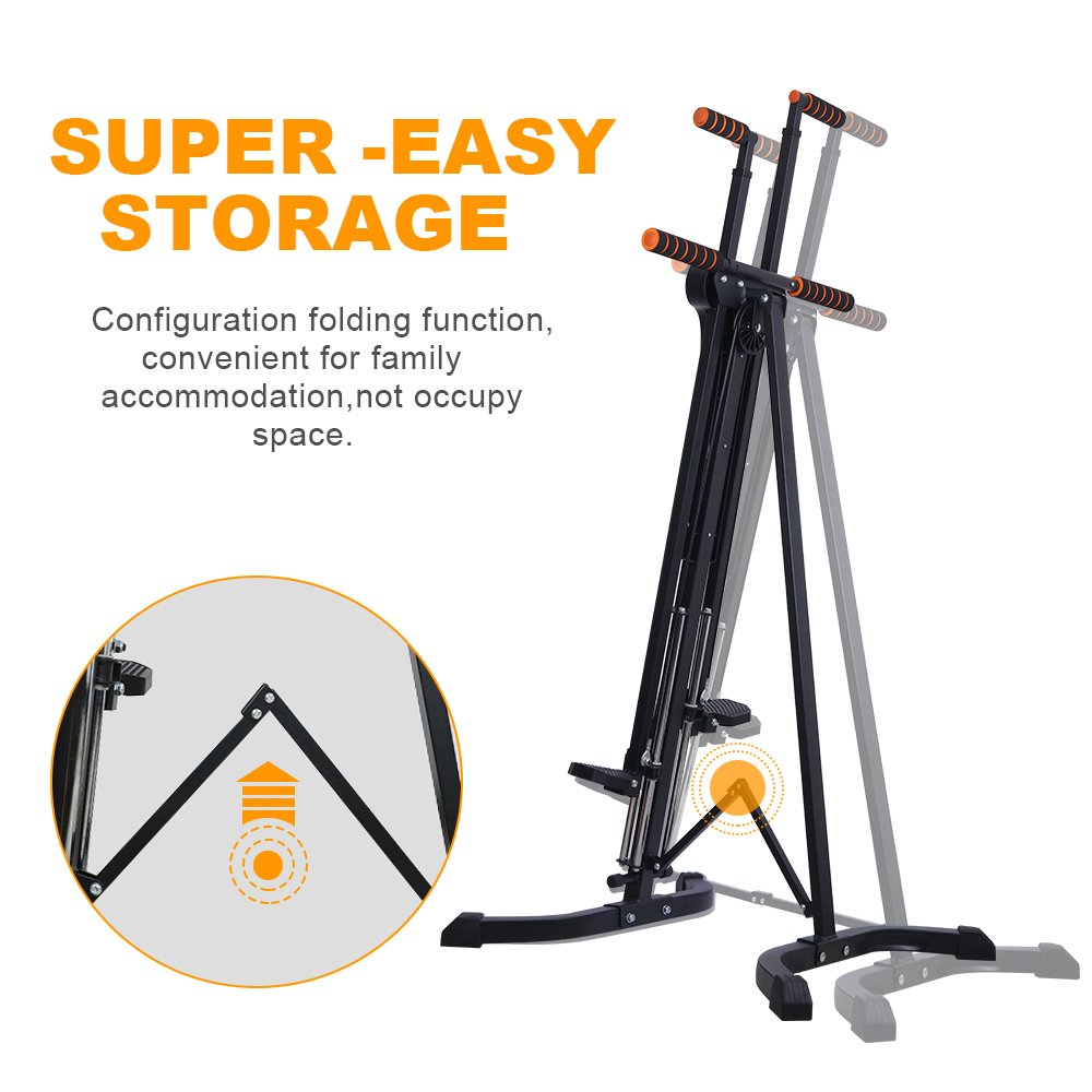 Rxlife Vertical Climber Cardio Exercise Folding Climbing Machine for Home Gym Step Climber Exercise Fitness by Rxlife (Image #4)
