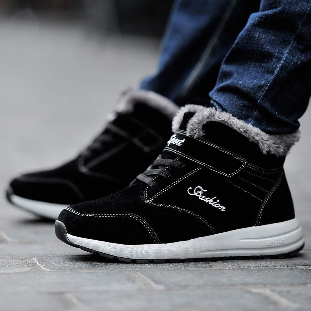 Zapatos Casuales para Hombres Al Aire Libre Zapatos Planos Transpirables M/ás Botas De Nieve De Terciopelo Zapatos para Caminar Zapatillas Deportivas Altas Hombre