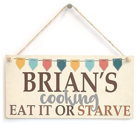 Mr.sign Brians Cooking Cartel de Pared Madera Placa Madera ...