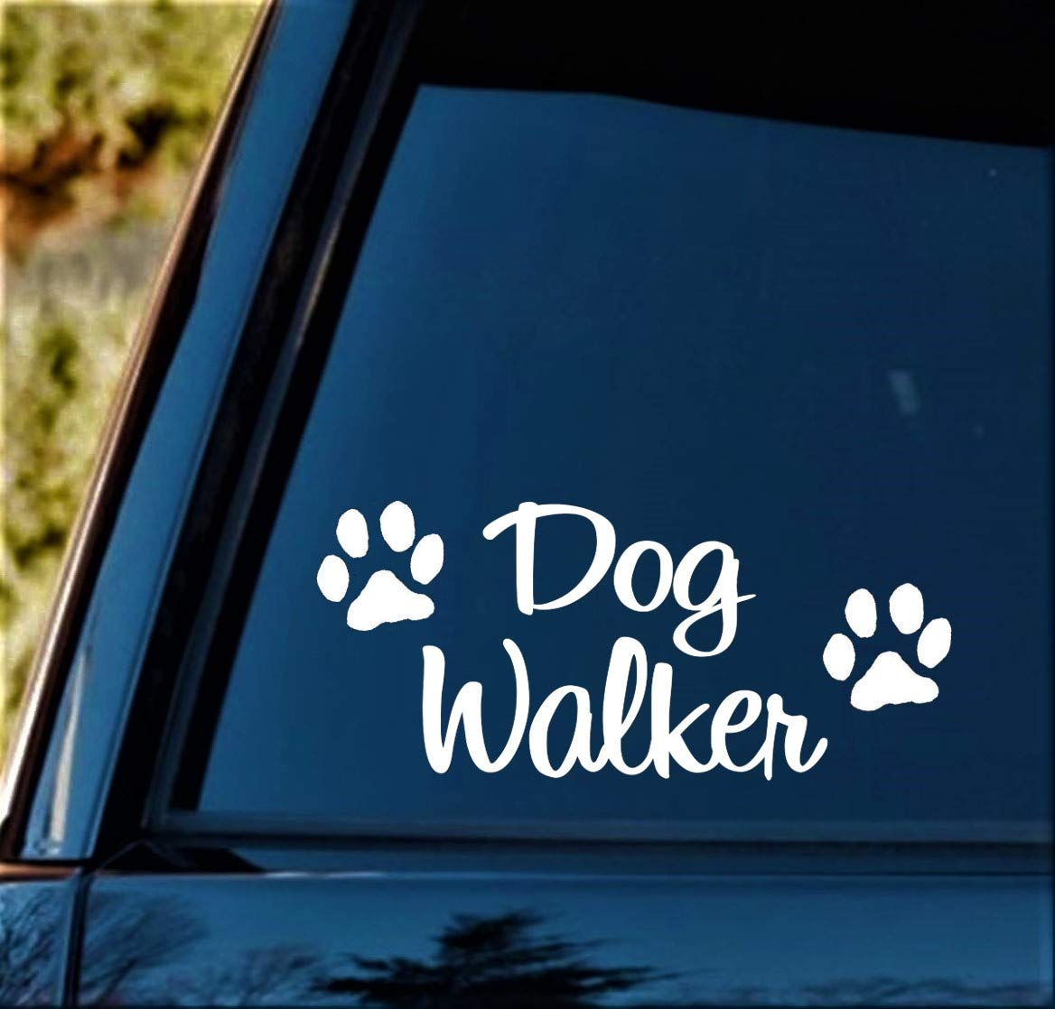 Dog Walker Decal Sticker for Car Window 8 Inch BG 405