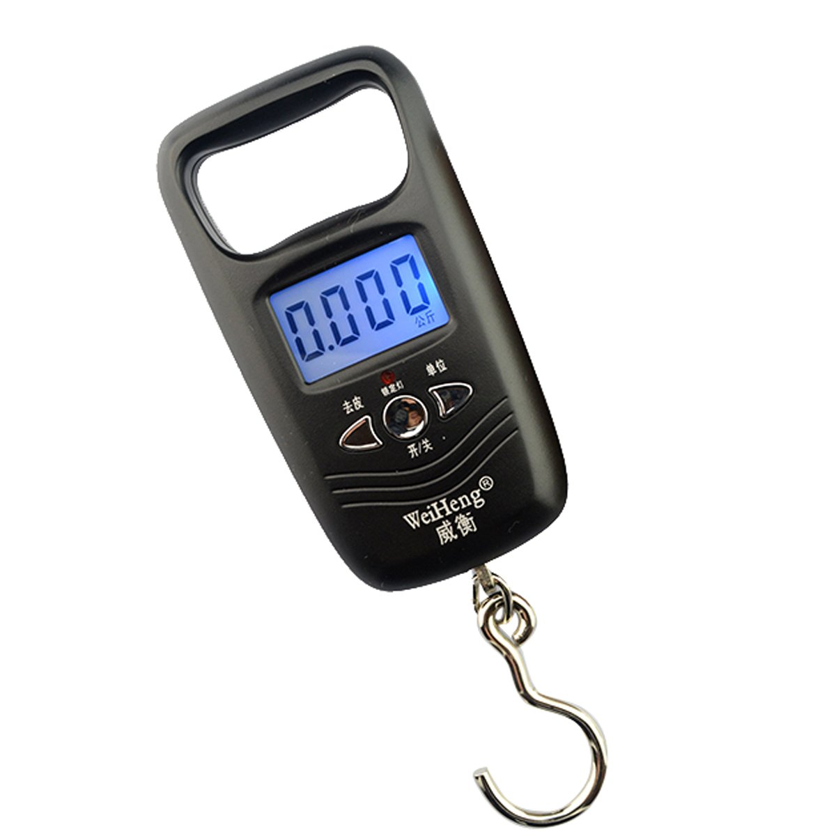 Aubig WH-A17L 50kg*10g Portable Electronic Luggage Scale - Black by