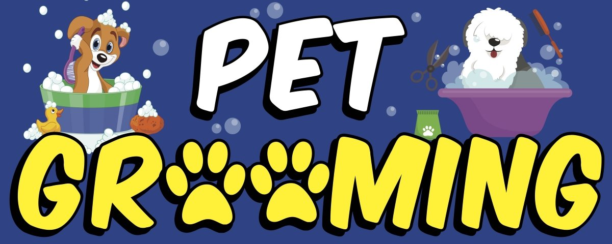 PET Grooming Banner Sign 2ft x 5ft OnPoint Wares