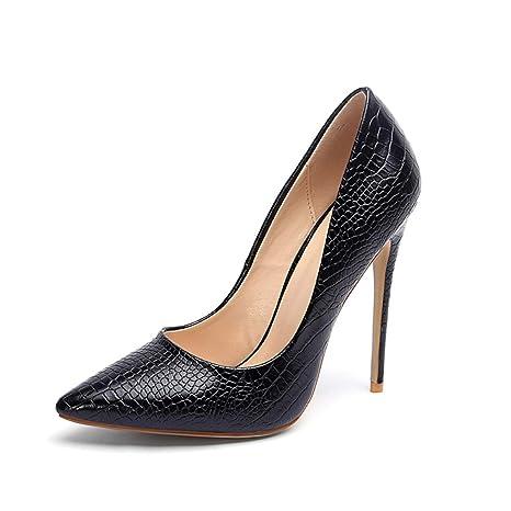 e22e36e1a4601 Amazon.com: Wension Women Stiletto Pointy Toe Shallow Slip-on Pumps ...