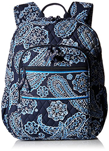 Vera Bradley Campus Backpack, Blue Bandana, One Size