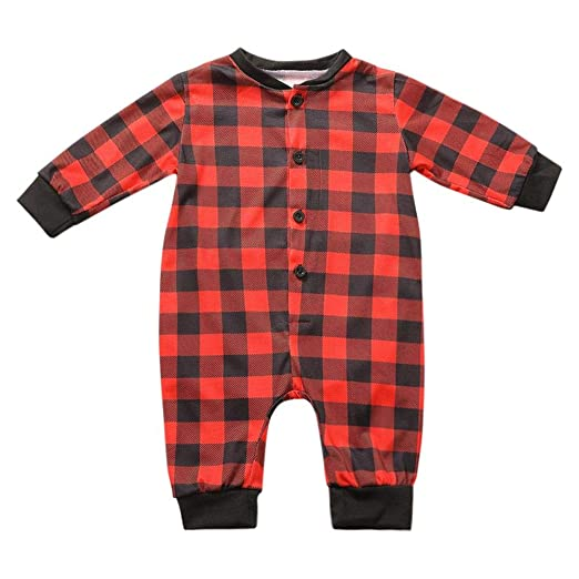 Image Unavailable. Image not available for. Color  chinatera Family  Matching Christmas Plaid Pajamas Set Dad Mom Baby Kids Sleepwear f48835a69