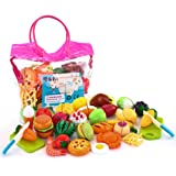 soni 32pcs cutting toys pretend food fruits vegetable playset educational learning toy kitchen play boy girl - Step2 Little Bakers Kitchen