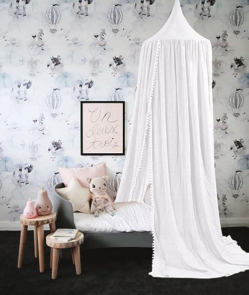 Amazon.com: Baibu Kid\'s Decorative Bed Canopy Princess Round Dome ...