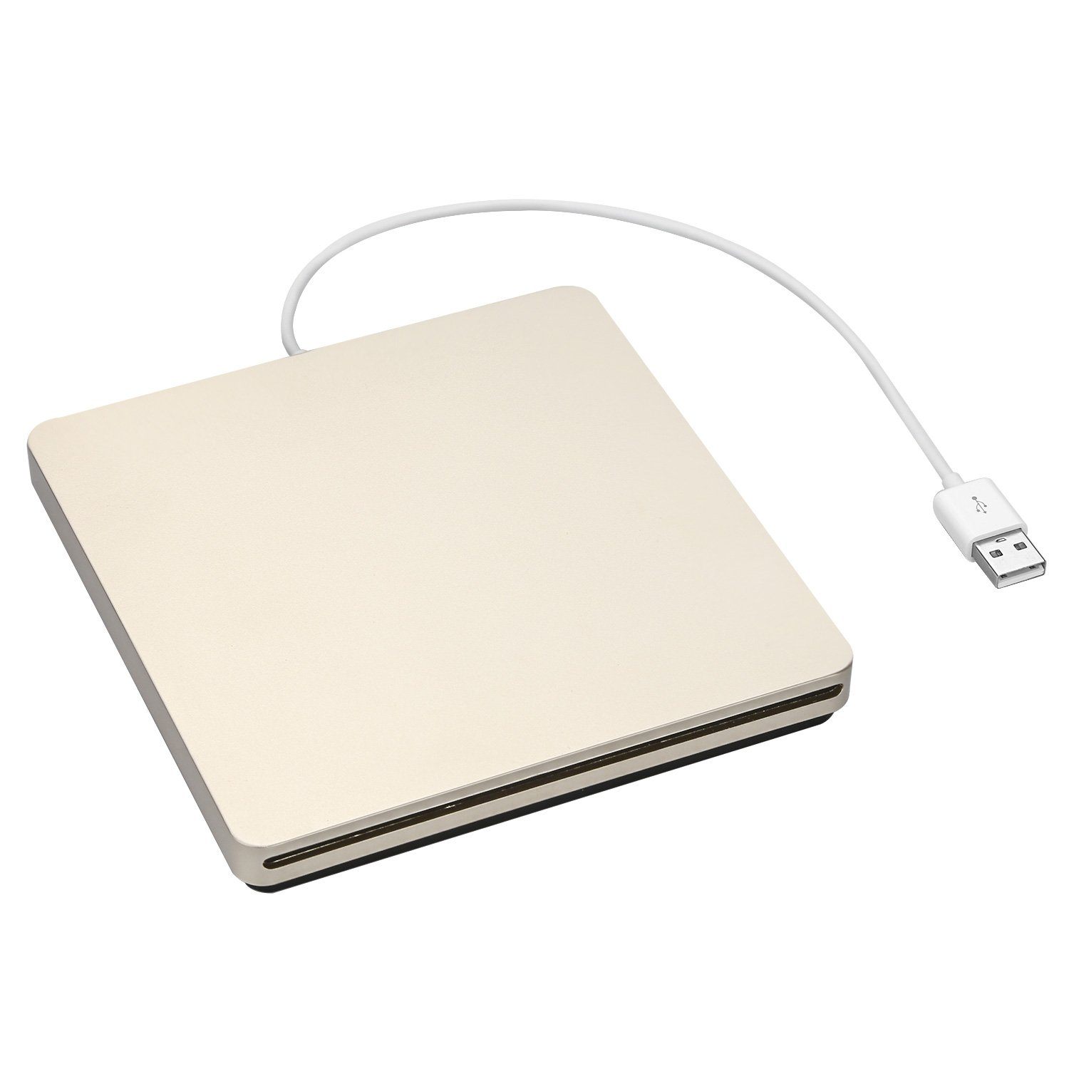 ZSMJ External USB Slot DVD VCD CD Driver DVD-RW CD-RW Burner Superdriver For Apple MacBook Air,Macbook Pro (Golden)