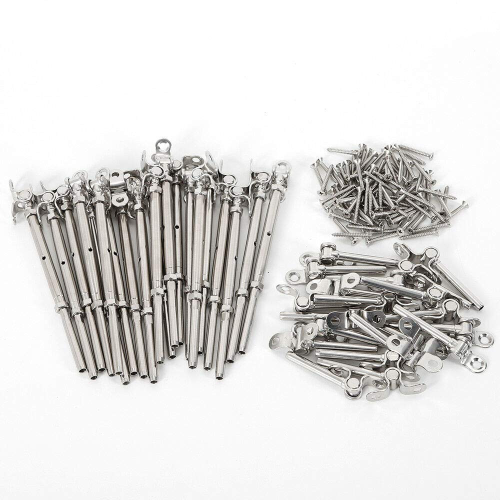 T316 Stainless Steel Cable Railing Kit 3//16 Stainless Steel Wire Rope 20//50