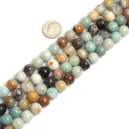 10mm Round Amazonite Stone Gemstone Beads Strand 15