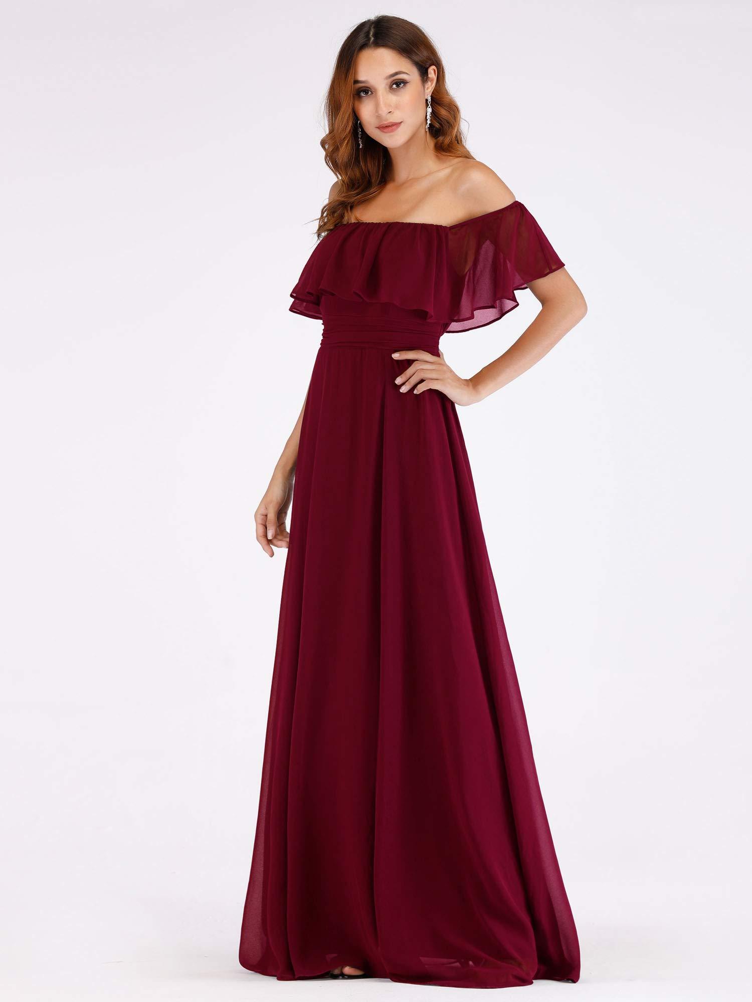 Women\'s Evening Gowns Wedding Guest Dresses for Women Plus Size Burgundy  US22