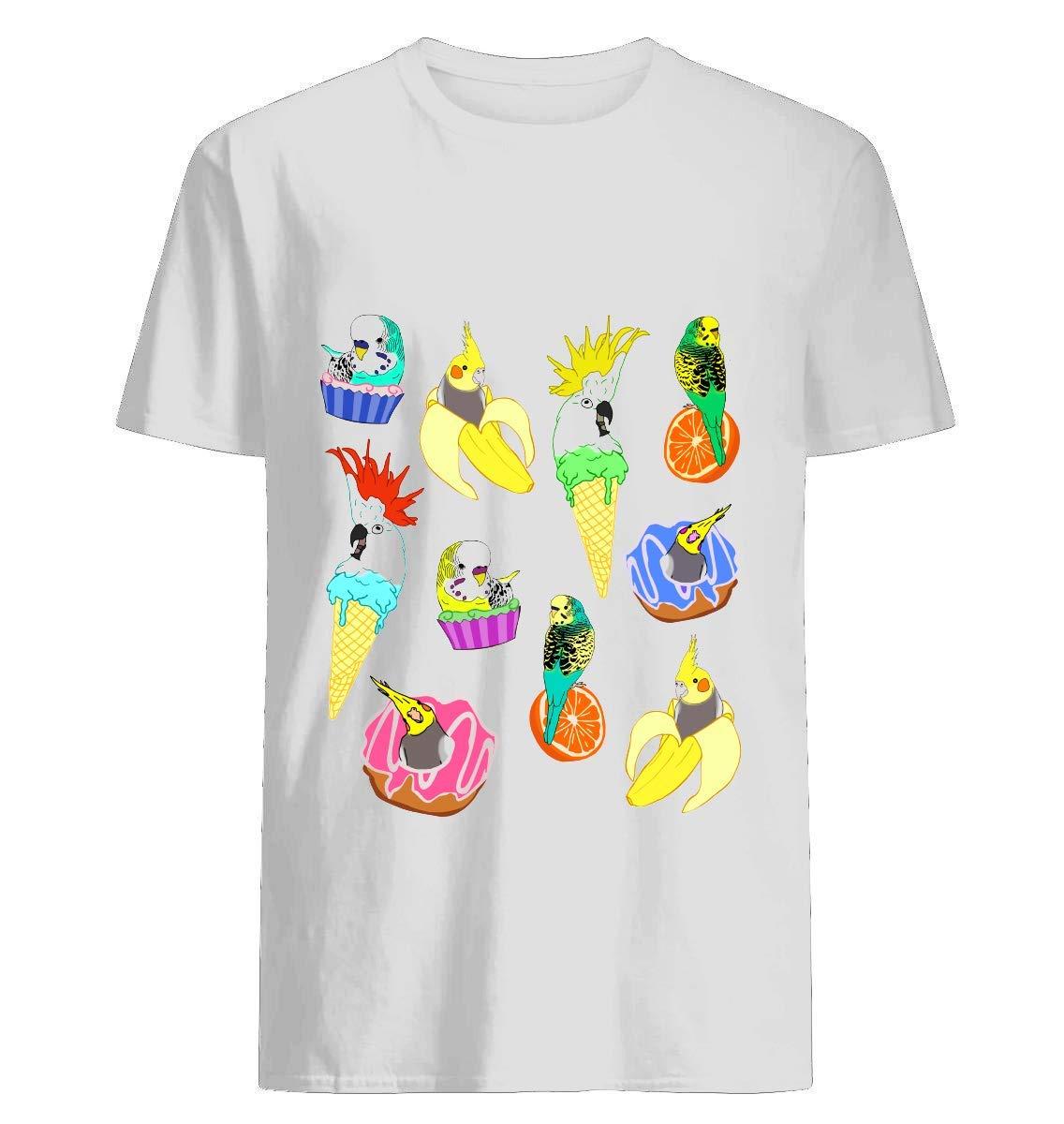 Food Birb Doodle Pattern 3 Shirts