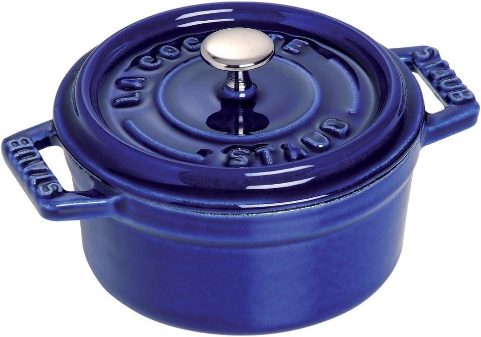 Staub 1101091 Mini Round Cocotte Oven, 0.25 quart, Dark Blue