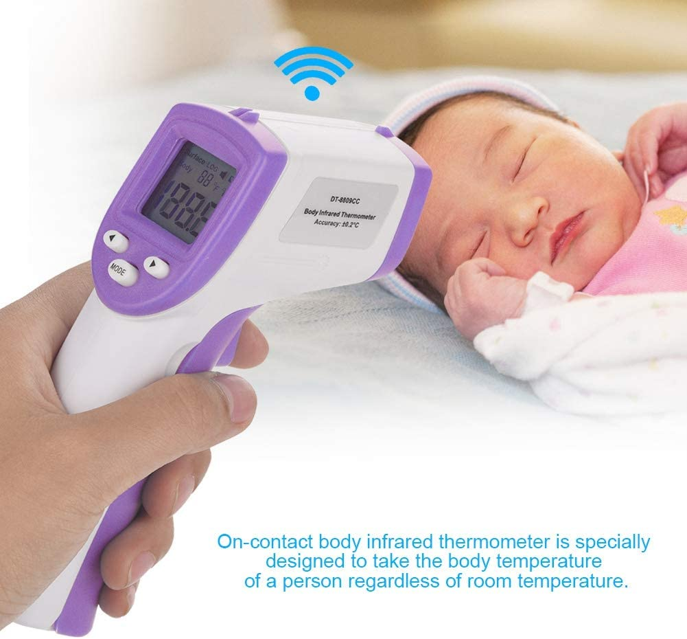 Green Temperature Measurement Accuracy /±0.3/°C Display accuracy: 0.1/°C Digital Thermometer LCD Infrared Thermometer for Baby and Adult 0.1/°F Forehead Thermometer