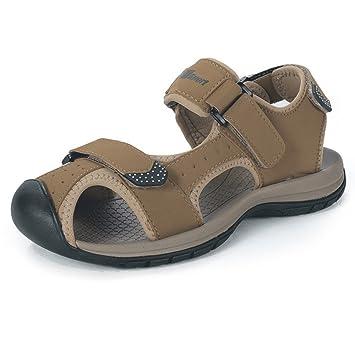 sommer männer strand schuhe, leder, sandalen, teenager.,38,khaki.