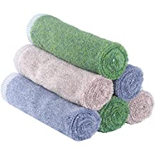 Premium Bamboo Washcloths by YoulerTex , 6 Pack 13inch x 13inch, Extra Soft High Absorbent Face Towels, Perfect Washcloths for Adult, Elderly, Kids, Baby