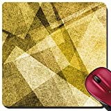 Liili Suqare Mousepad 8x8 Inch Mouse Pads/Mat abstract gold background with white parchment paper geometric shapes texture linen canvas style for graphic designers website template modern contemporary