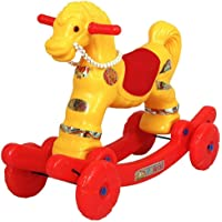 Indian 2 in 1 Baby Horse Rider for Kids 1-5 Years Birthday Gift for Kids/Boys/Girls (Colour-Multi)