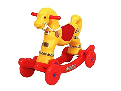 Buy Indian 2 In 1 Baby Horse Rider For Kids 5 Years Birthday Gift Boys Girls Colour Multi Online At Low Prices India