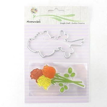 KIMODO Plantilla de molde de metal para plantillas de corte para la fabricación de tarjetas de papel para álbumes de recortes de bricolaje: Amazon.es: Hogar