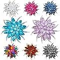 F&U Flower Brooch Pin fashion Crystal Corsage for Women in Bouquet Wedding
