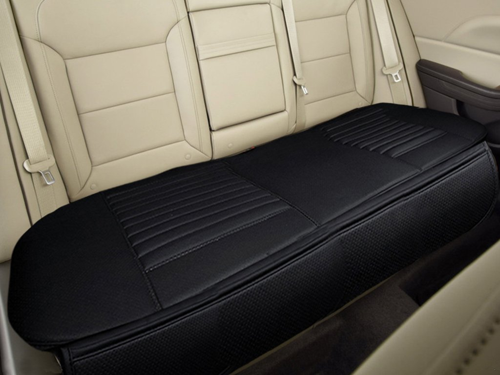 Amazon Nonslip Rear Car Seat Cover Breathable Cushion Pad Mat For Vehicle Supplies With PU LeatherBlack Back Row 583 X 189 Automotive