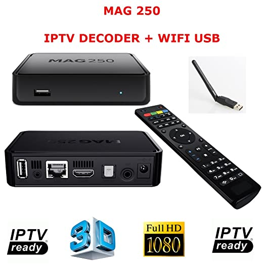 7 opinioni per MAG 250 DECODER IPTV HDTV 1080P HDMI STREAMING TV HD BOX MEDIA PLAYER + USB WIFI