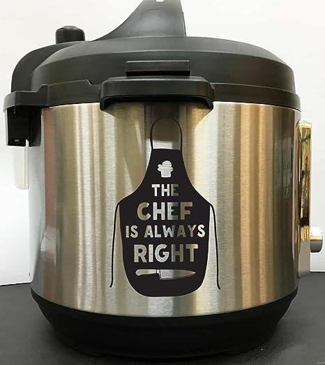 Custom saying personalized Decal Vinyl Sticker Instant Pot Crock Pressure Cooker