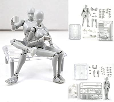Body Kun Male and Female Action Figure Models review