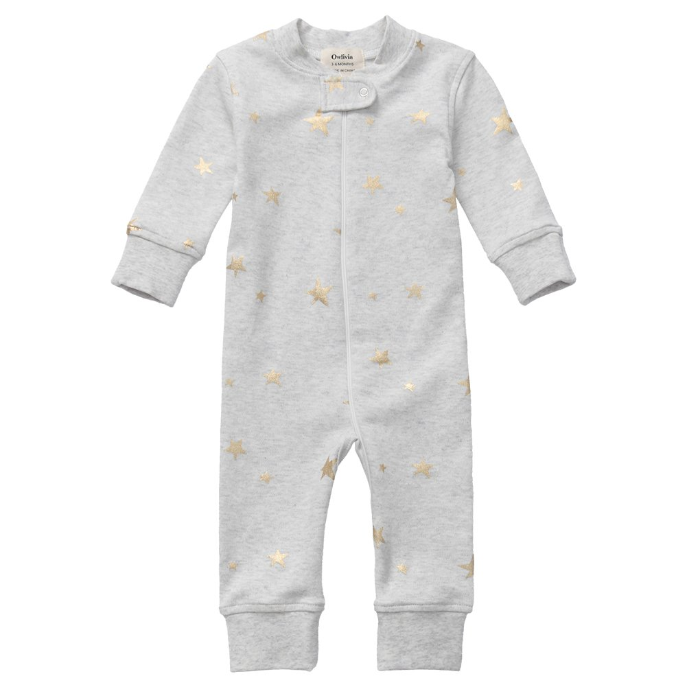 Footless Long Sleeve Size 0-18 Month Owlivia Organic Cotton Baby Boy Girl Zip up Sleep N Play