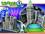 a b c d puzzle - Wrebbit Puzz-3D New York City Collection, Financial District, N.Y.C. 3D Jigsaw Puzzle (925 Pieces)
