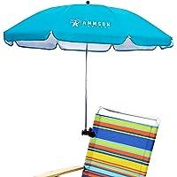 AMMSUN 110cm Portable Sunshade Beach Chair Umbrella Summer Bicycle Pushchair Umbrella Adjustable Umbrella with Universal…