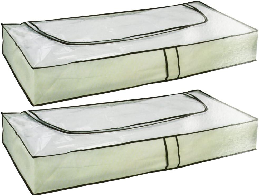 103 x 45 x 16 cm com-four/® Set 2 Pezzi di armadi sottoscocca Beige con Cerniera e Maniglie 02 Pezzi - Beige