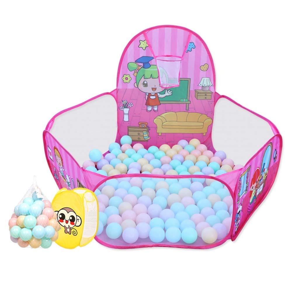 激安ブランド XIAOLIN : XIAOLIN ボールプールフェンス子供家庭用おもちゃ屋内屋外ゲームテント折り畳み式セキュリティフェンス (色 : Pink) Pink Pink B07GGLH8L3, 鎮西町:014e30b3 --- a0267596.xsph.ru