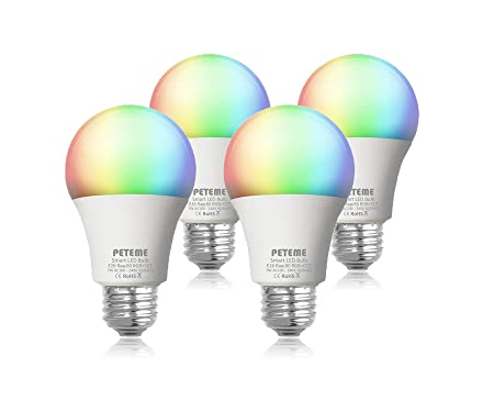 Peteme Smart LED Light Bulb E26