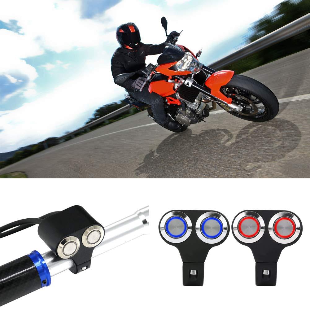 Keenso 7//8 zoll 22mm Motorrad Lenkerschalter Lenkerbremse Nebelscheinwerfer Griff Auf//Aus Grip Schalter Typ-D